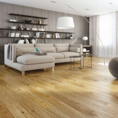 Natura Oak Galway is a 1 strip plank engineered floor with bevelled edges and a brushed oiled finish. A unique feature of this product is that 1 board within the pack can be 20mm shorter and 2 boards can be 10mm shorter than the rest in the pack. This adds variation to the design for a more informal feel.