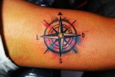 Tattoo compass is a good old school tattoo. A classic tattoo on hand.