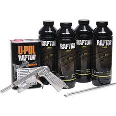 U-Pol Raptor Clear Tintable Truck Bed Liner Kit w/Applicator Gun UPol Diy Bed Liner, Truck Bed Liner Paint, Bedliner Paint Job, Spray On Bedliner, Inside Car, Truck Mods, 4x4, Pickup Trucks, Custom Cars