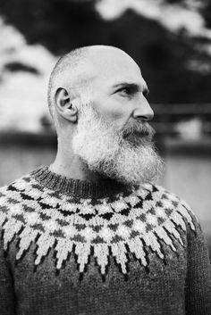 Beards. Men. Going Grey. Sweaters.