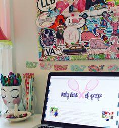 Preppy Desk  Www.dailydoseofprep.com