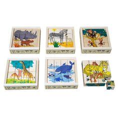 16-cubes Wild Animals Puzzle Atelier Fischer Toys and Hobbies