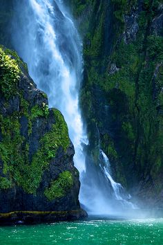 Stirling Falls in New Zealand :)