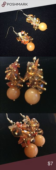 Peach Statement Earrings Smoke free home. I discount bundles. Feel free to ask questions. Make an offer. Jewelry Earrings