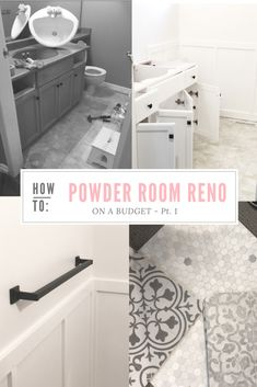 """Every few years, we pick an area in the house from the """"Need to Reno"""" list and this year was the powder room! It has been on our list for awhile but it wasn't one of those urgent …"""