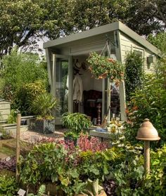 "How about a beautiful garden to go with your ""she shed?"" Don't mind if I do!Share This on Facebook?I... - Mom.me"