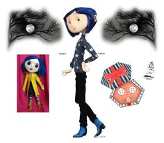 """""""Coraline"""" by rubysal ❤ liked on Polyvore featuring contestentry"""