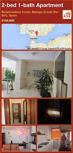 2-bed 1-bath Apartment in Benalmadena Costa, Malaga (Costa Del Sol), Spain ►€168,000 #PropertyForSaleInSpain