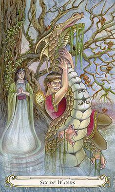 6 de bâtons - Le Conte de Fées de Tarot par Lisa Hunt