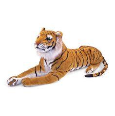 Melissa and & Doug Large Giant Plush Animal Stuffed Tiger  New Item # 2103