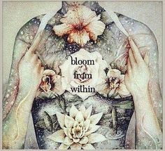 When the Flower of your Heart begins to Bloom from within, you have accessed your Divinity. Within this Sense of Peace, you see your Aura Brighten with beautiful Rainbow Colors. -Mary Long