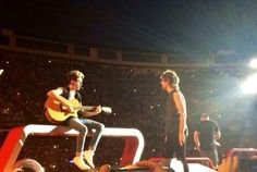 Niall and Louis on stage in Madrid, Spain (Night 1) 7.10.14
