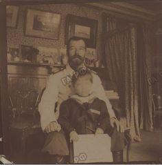 Nicholas with daughter Maria  1900-1901
