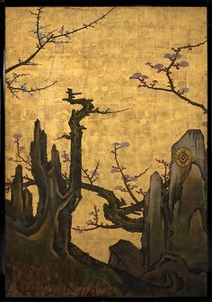 The Old Plum, Attr. to Kano Sansetsu, ca. 1645