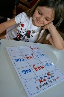 Tic-Tac- Word Families