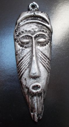 African Mask Charms face pendant Africa Tribal  by AncientEthnic