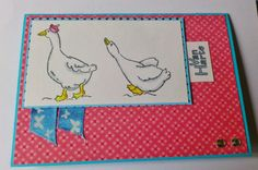 Made by Maroeska: Two gooses - Kars clear stamp. Colored with copics.