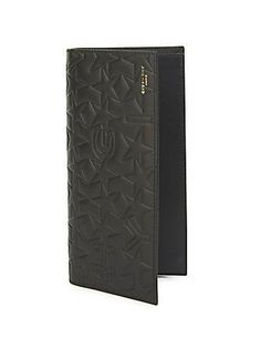 Givenchy Star Motif Calf Leather Bi-Fold Wallet - Black