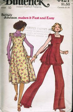 Butterick 4427; ca. 1970s; Young Designer Betsey Johnson