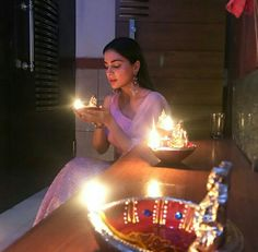 Diwali Celebration, Tv Actors, Arya, Birthday Candles, Instagram Posts, Star, Friends, Quotes, Fashion