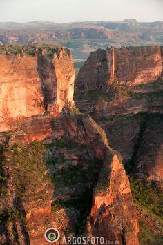 Cidade de Pedra canyons, Chapada dos Guimaraes National Park, Mato Grosso, Brazil