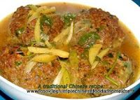 How to cook Meat Balls Braised with Brown Sauce Chinese recipe