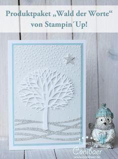 """{ Conibaers creative desk } Constanzes kreatives Blog: Mehr winterlicher """"Wald der Worte"""""""