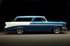 1956 Chevy Bel Air Wagon Nomad. I know of one in my neighborhood. I want it.