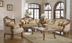 Traditional 3 Piece Living Room Set