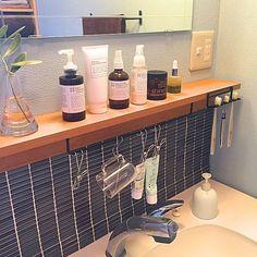Washroom, Bathroom Medicine Cabinet, Master Bathroom, Muji Home, Bath Caddy, My Room, Home Organization, Interior Architecture, Living Spaces