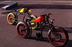Cool Bicycles, Cool Bikes, Bobber, Vintage Moped, Moutain Bike, Motorised Bike, Pocket Bike, Push Bikes, Chopper Bike