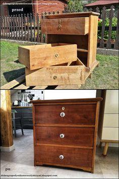 GOSPODYNI Z WIZYTĄ - 2 - renowacja starej, drewnianej komody, jak odnowić komodę? Komodo, Dom, Storage Chest, Cabinet, Furniture, Home Decor, Clothes Stand, Decoration Home, Room Decor
