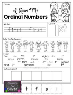 I know my ordinal numbers! Printables and activities!