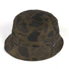 Dot Camo Bucket Hat, Jungle