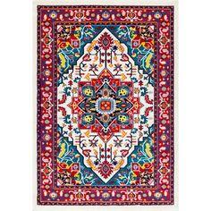 nuLOOM Vibrant Floral Persian Multi Rug (5' x 8')