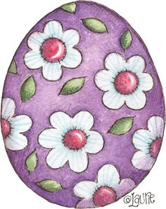 Purple with White Flowers Easter Egg Happy Easter, Easter Bunny, Easter Eggs, Ostern Wallpaper, Decoupage, Easter Printables, Doodles Zentangles, Easter Activities, Arts And Crafts