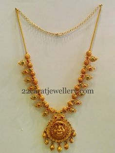 Gold Necklace with Paisley Design