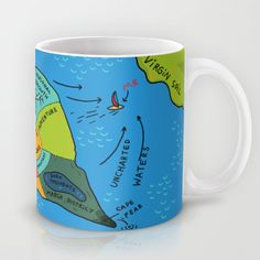 Uncharted Waters Mug by miumau - $15.00