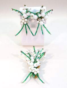 Miriam Haskell Rare Lily Of The Valley Demi Parure