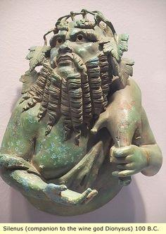 Etruria: Silenus,companion to the wine god Dionysus 100 BC Bronze