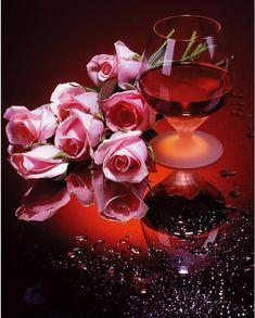 Rose and Wine Square Diamond Painting Buy Roses, Pink Roses, Pink Flowers, Pablo Neruda, 5d Diamond Painting, Wine Time, Arte Floral, Painting Patterns, Be My Valentine