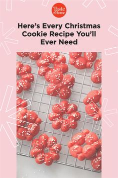 Here's Every Christmas Cookie Recipe You'll Ever Need Spritz Cookie Recipe, Spritz Cookies, Meringue Cookies, Cookie Recipes, Cookie Tray, Holiday Desserts, Christmas Cookies, Nutella, Peppermint