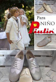 zapatos lino y piel cordones primera comunión calzados piulín traje barcarola