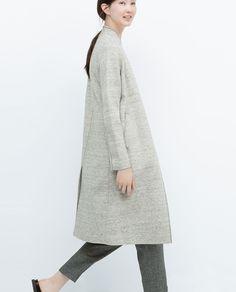 VELOUR COAT from Zara