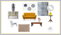 Rustic mustard and blue heritage