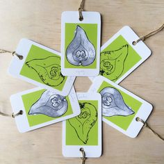 Pears 6 Gift Tags