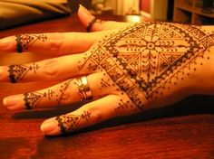 North African style henna pattern