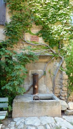 How picturesque! That's how I imagine a village in Provence: with a fountain covered by ivy... © Comité Régional de Tourisme Provence-Alpes-Côte