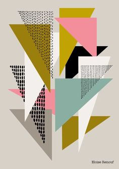 geometric shapes simple designs pattern patterns giclee no4 shape edition open renouf eloise triangles graphic triangle using textures geometry background