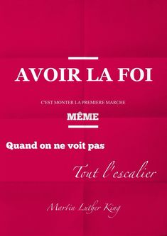 Citation : avoir la foi...